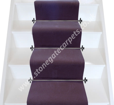 Brintons Carpets Majestic Gorgeous Plum Plain Stair Runner (per M)