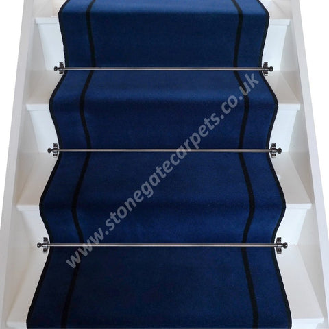 Brintons Carpets Majestic Oxford True Velvet Jet Stair Runner (per M)