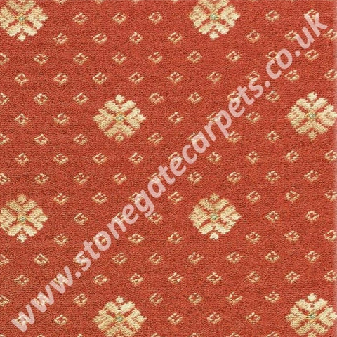 Brintons Carpets Marquis Consort Orange Flake Carpet Remnant 27/25404