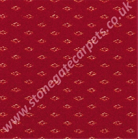 Brintons Carpets Marquis Regal Red Diamond Carpet Remnant