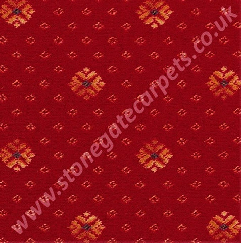 Brintons Carpets Marquis Regal Red Flake Carpet Remnant