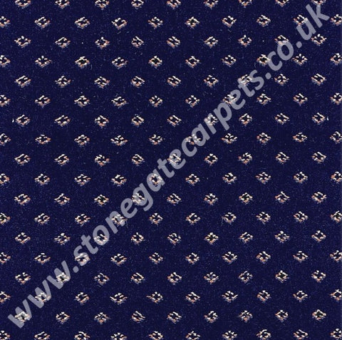 Brintons Carpets Marquis Royal Blue Diamond Carpet Remnant