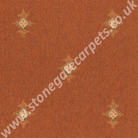 Brintons Carpets Marrakesh Kashmir Rust Carpet 197/22123