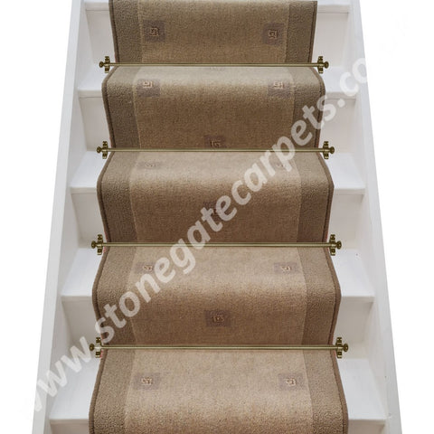 Brintons Carpets Paloma Lorca Olive & Bell Twist Putty Stair Runner (per M)