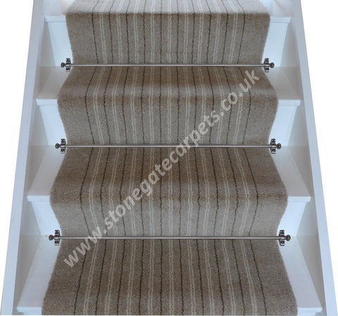 Brintons Carpets Pure Living Earth Stripe Stair Runner (per M)