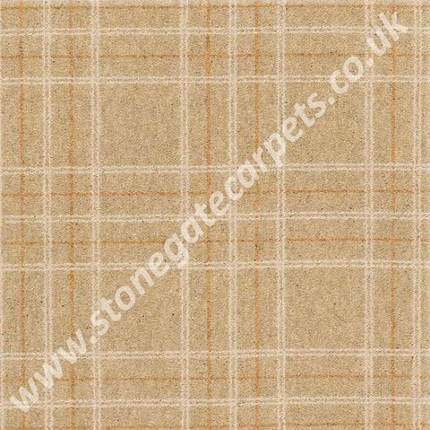 Brintons Carpets Pure Living Mandarin Plaid Carpet Remnant