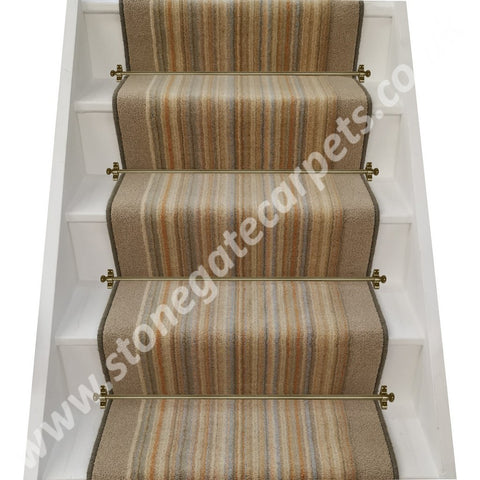 Brintons Carpets Pure Living Sandalwood Strata & Bell Twist Parchment Stair Runner (per M)