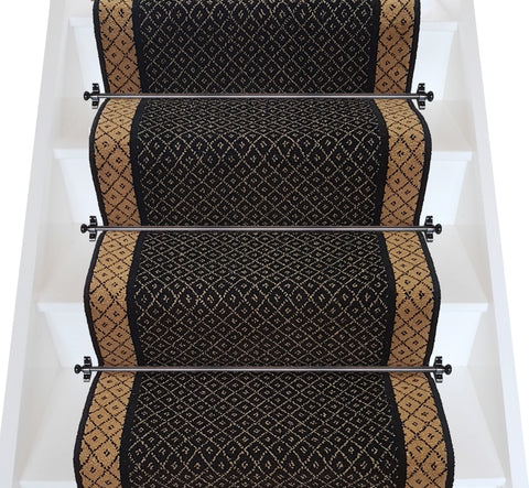 Brintons Carpets Regina Jet Trellis & Honey Bee Trellis Stair Runner - LOW STOCK (per M)