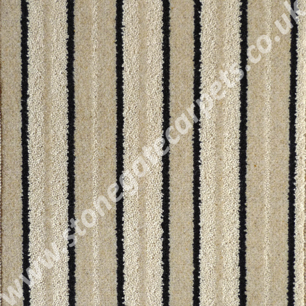 Brintons Carpets Stripes Collection Brighton Rock Jet