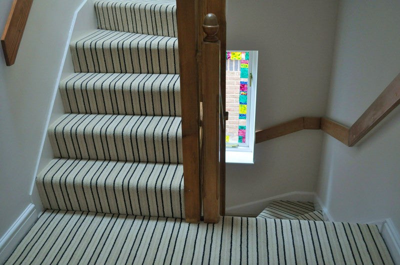 High Quality Brintons Carpets Stripes Collection Brighton Rock Fully Fitted Stair Carpet  (per M)