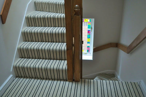 Brintons Carpets Stripes Collection Brighton Rock Fully Fitted Stair Carpet Per M