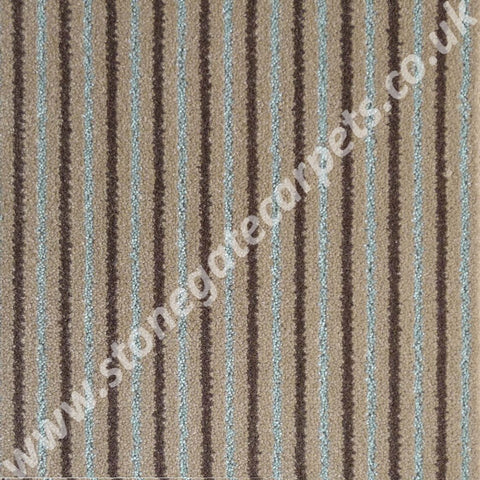 Brintons Carpets Stripes Collection Chocolate Bonbon Carpet Remnant - ROOM SIZE @ £35sq/mt