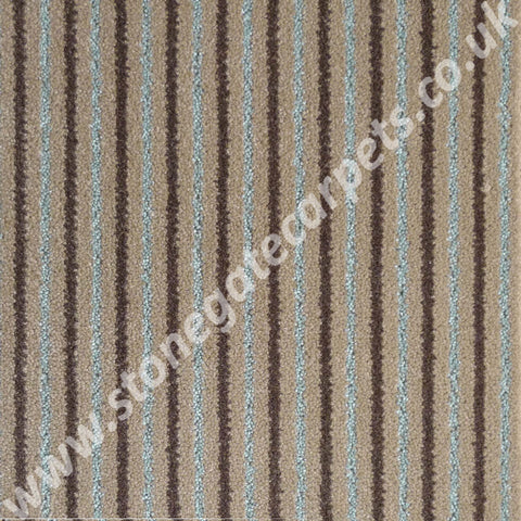 Brintons Carpets Stripes Collection Chocolate Bonbon Carpet Remnant 2ST/38266