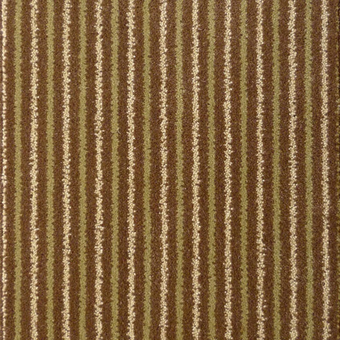 Brintons Carpets Stripes Collection Chocolate Limes Carpet Remnant - ROOM SIZE @ £35sq/mt