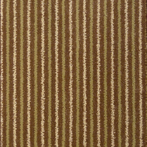 Brintons Carpets Stripes Collection Chocolate Limes Carpet Remnant 8ST/38266