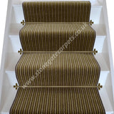 Brintons Carpets Stripes Collection Chocolate Limes Stair Runner (per M)