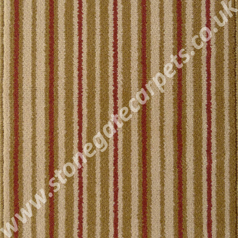 Brintons Carpets Stripes Collection Raspberry Ruffles Carpet Remnant 1ST/38267