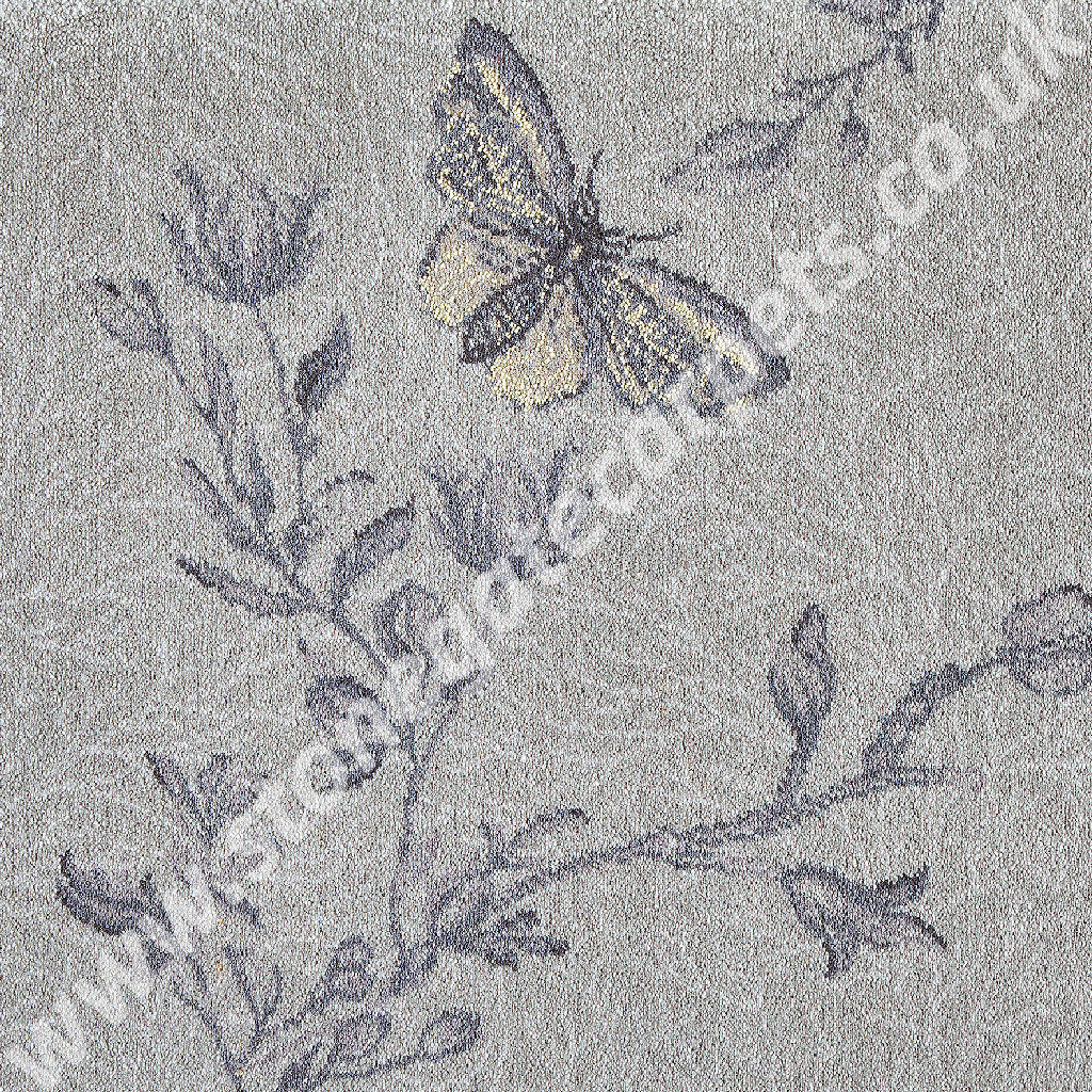 Brintons Carpets Timorous Beasties Silver Ruskin Butterfly