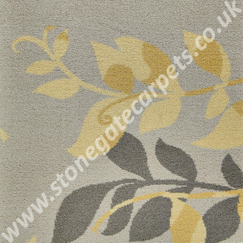 Brintons Carpets Timorous Beasties Yellow Botanical Carpet 6/50157