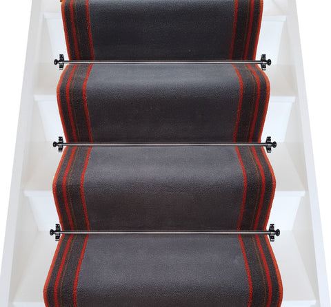 Brintons Carpets True Velvet Space & Tango Stripe Stair Runner - LOW STOCK (per M)