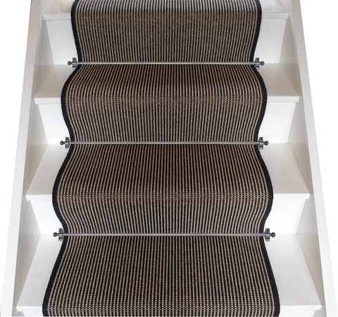 Crucial Trading Wool & Linen Ebony Stair Runner
