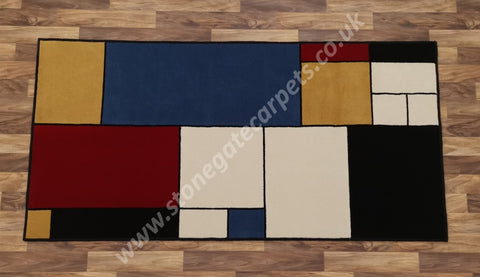 Mondrian Inspired Rug Created From Brintons & Ulster Carpets