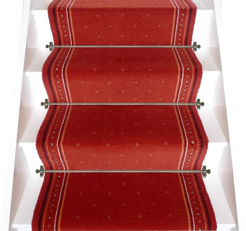 Stoddards Carpets 27 Inch Dark Orange Stair Runner - 4.50M ONLY. PRICE IS FOR WHOLE PIECE