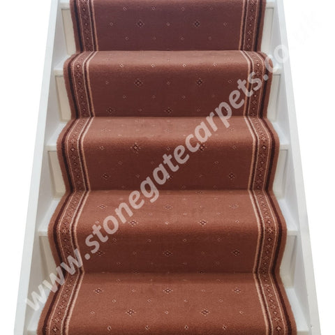 "Stoddards Carpets Salmon 30"" Wide Stair Runner (per M)"