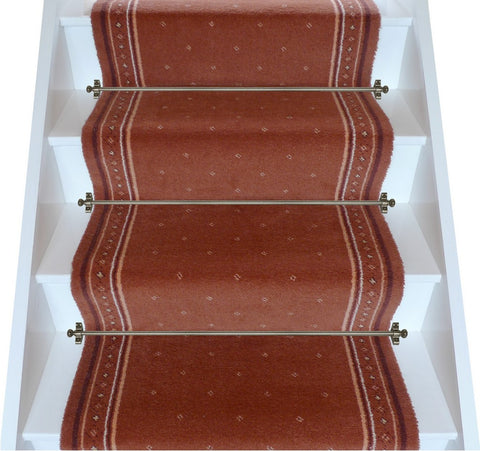 Stoddards Carpets 27 Inch Terracotta Stair Runner - 2.10m ONLY. PRICE IS FOR WHOLE PIECE