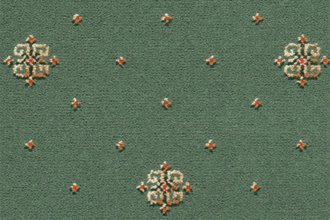Ulster Carpets Athenia Motif Green 4/2566