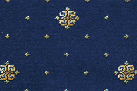 Ulster Carpets Athenia Motif Royal Blue 12/2566