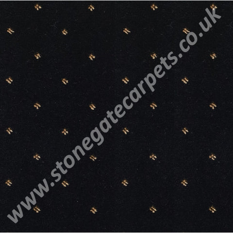 Ulster Carpets Athenia Pindot Black 91/2572 (Please Call for per M² Cost)