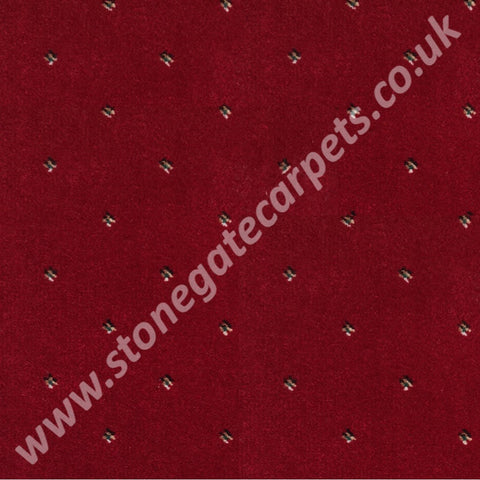 Ulster Carpets Athenia Pindot Red 10/2572 (Please Call for per M² Cost)