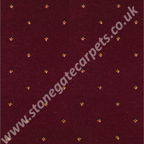 Ulster Carpets Athenia Pindot Wine 22/2572 (Please Call for per M² Cost)