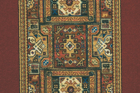 Ulster Carpets Glenavy Ethnic Panel Rust Runner 01/2137