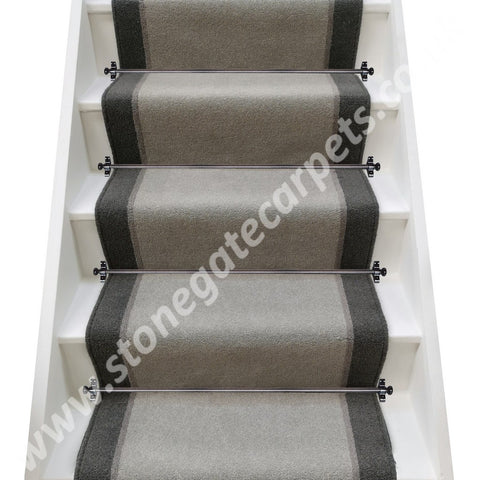 Ulster Carpets Grange Wilton French Grey, Greyhound & Smoke Stair Runner (per M)