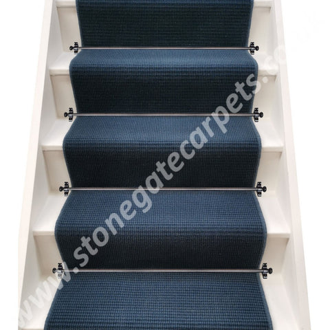 Victoria Carpets Executive Tweed Navy Blue Stair Runner (per M)