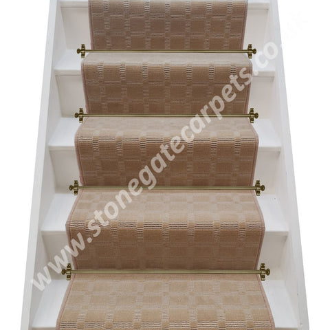Victoria Carpets Executive Tweed Sand Stair Runner (per M)