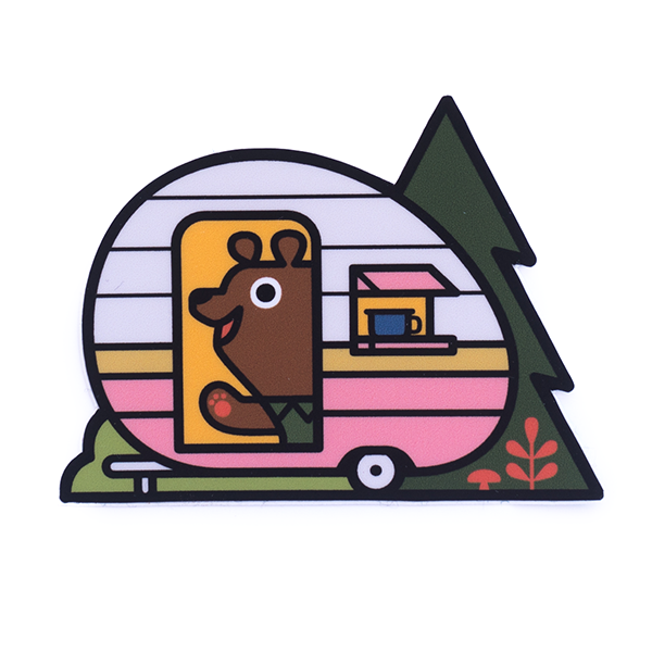 Camp Bear Sticker