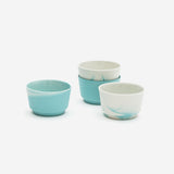 Set of 2 Pigments & Porcelain Coffee Cup Mint