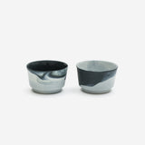 Pigments & Porcelain Coffee Cup Black (Set of 2)