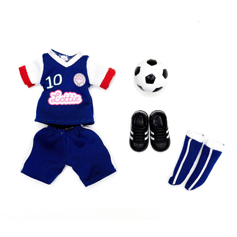 Girls United football soccer Lottie Doll Clothes and Outfits