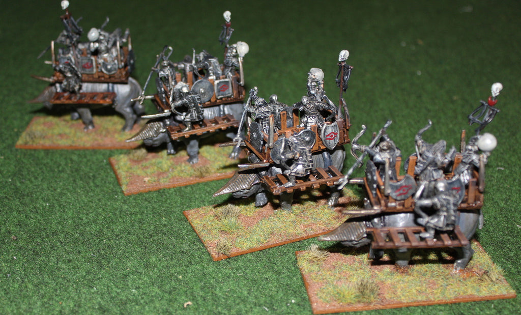 Converted Eaglemoss Lord of the Rings Great Beasts with Games Workshop Orcs