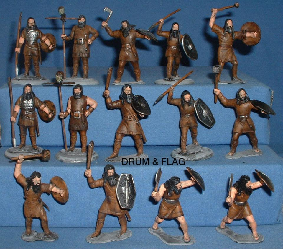 Dunlending LOTR Warband. Converted Marx 60mm Vikings.