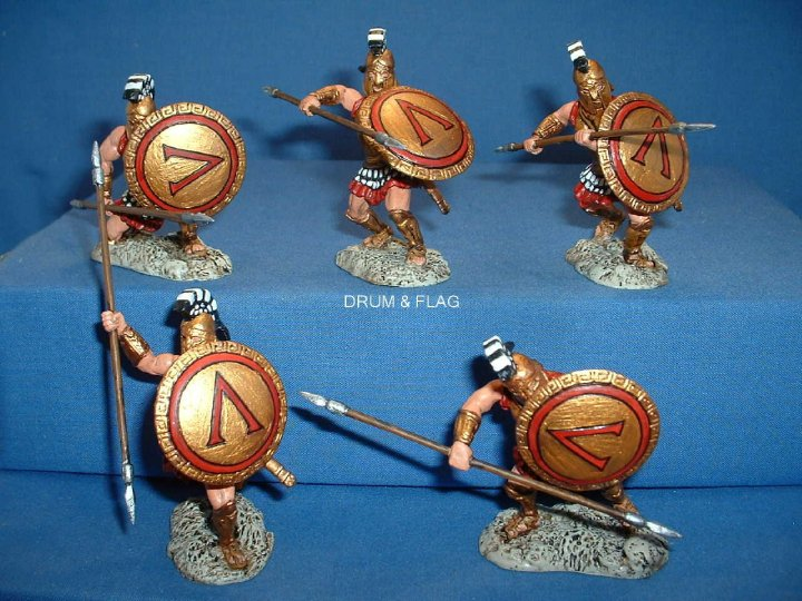 Conte Painted Plastic Spartans