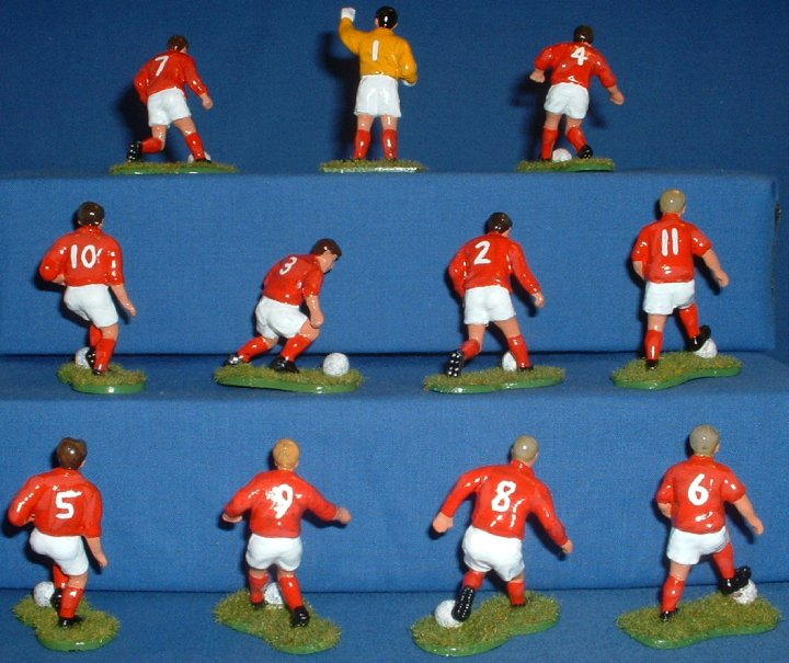 Toyway(?) - 1/32 scale Footballers painted as England 1966. Rear View
