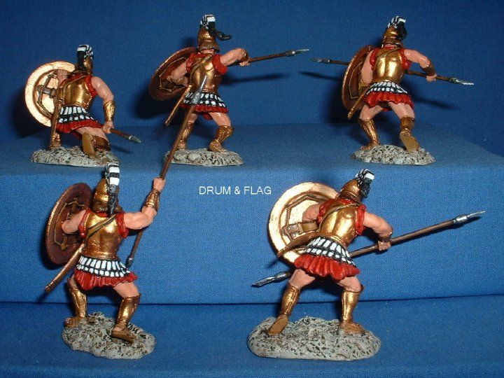 Conte Plastic Spartans Painted 60mm
