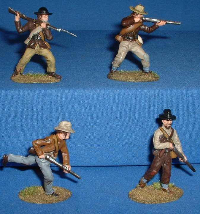 A Call to Arms Confederates painted as Boers 1/32 scale. Front View
