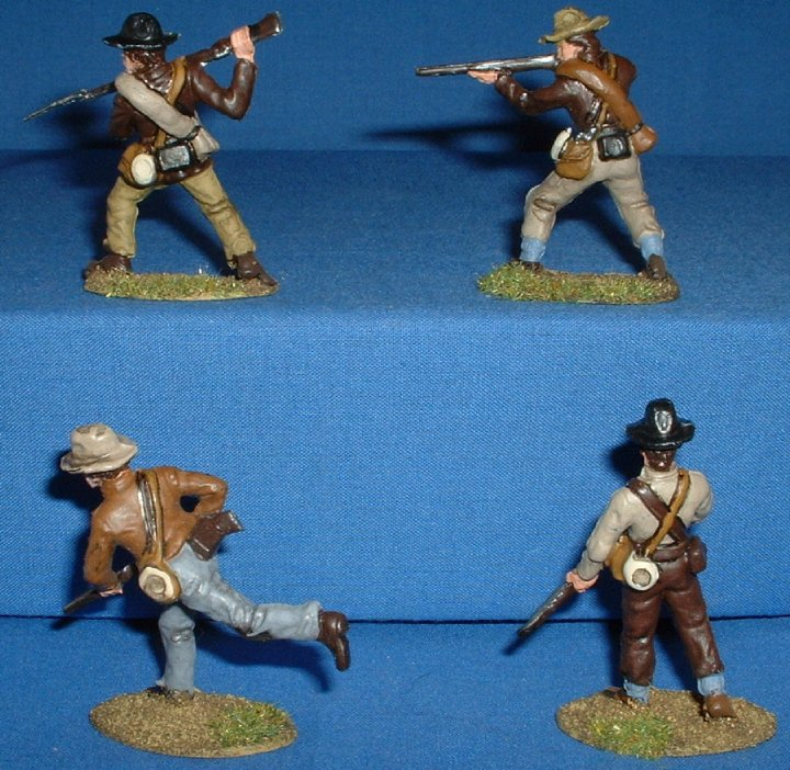A Call to Arms Confederates painted as Boers 1/32 scale. Rear View