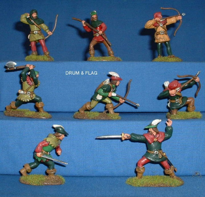Barzso Robin Hood & His Merry Men 60mm Front View